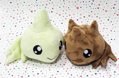 Digimon - Zerimon and Conomon custom plush by KitamonPlush