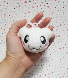 Digimon - SnowBotamon custom plush keychain