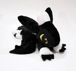 HTTYD - Night Light Dragon lying down custom plush