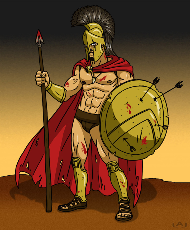 King Leonidas by Red-Flare