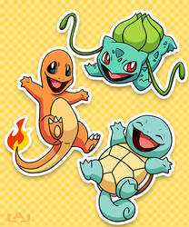 Kanto Starters by Red-Flare