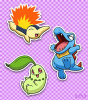 Johto Starters by Red-Flare