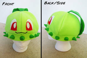 Commission: Chikorita Hat by Red-Flare