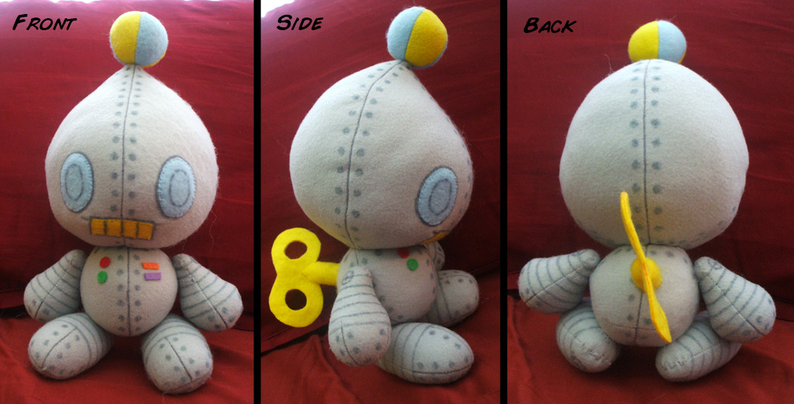 Robo-Chao Plushie by Red-Flare