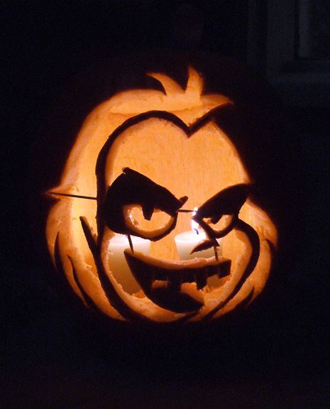 Beetlejuice Jack-o-Lantern by Red-Flare