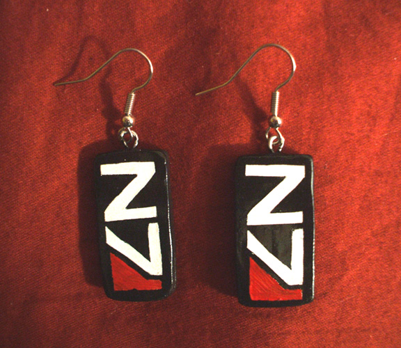 Commission: N7 Earrings by Red-Flare