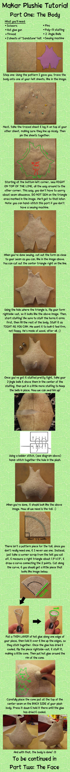 Makar Plushie Tutorial Part One: The Body by Red-Flare