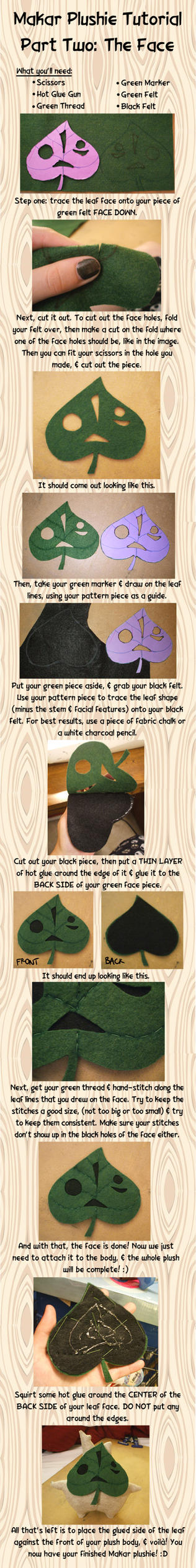 Makar Plushie Tutorial Part Two: The Face by Red-Flare