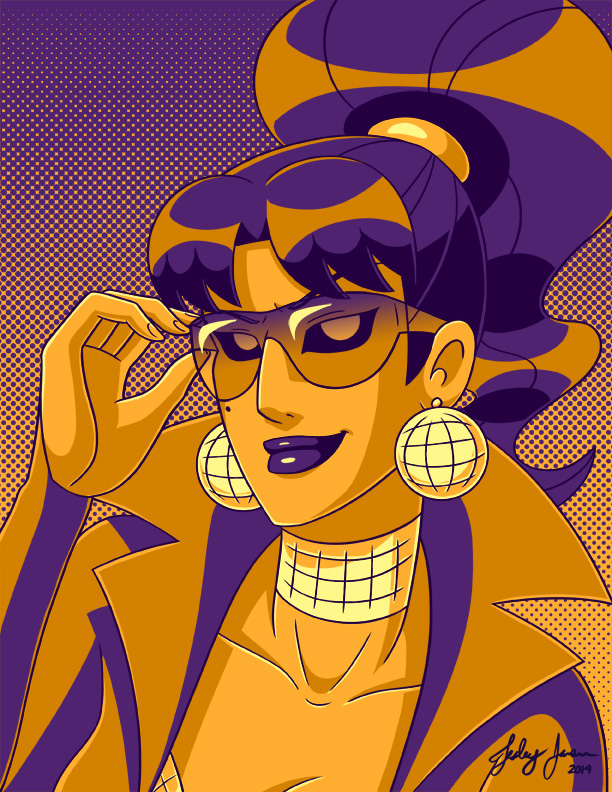 Disco Dame palette portrait by Red-Flare