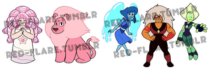New Steven Universe Chibis by Red-Flare