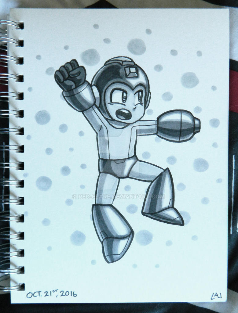 Inktober 2016: Megaman by Red-Flare