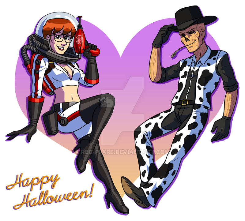 Red and Hancock Halloween by Red-Flare