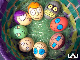 Futurama Eggs by Red-Flare