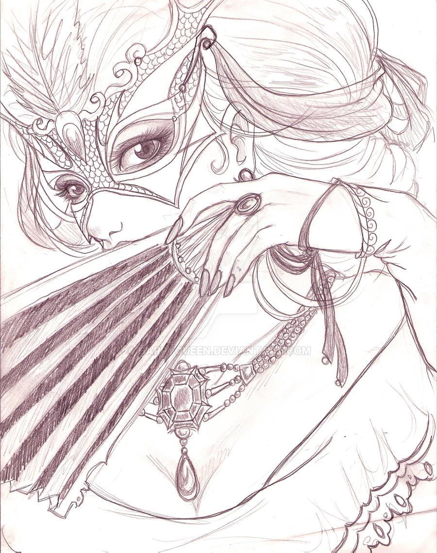 Masquerade Sketch By Harpyqueen