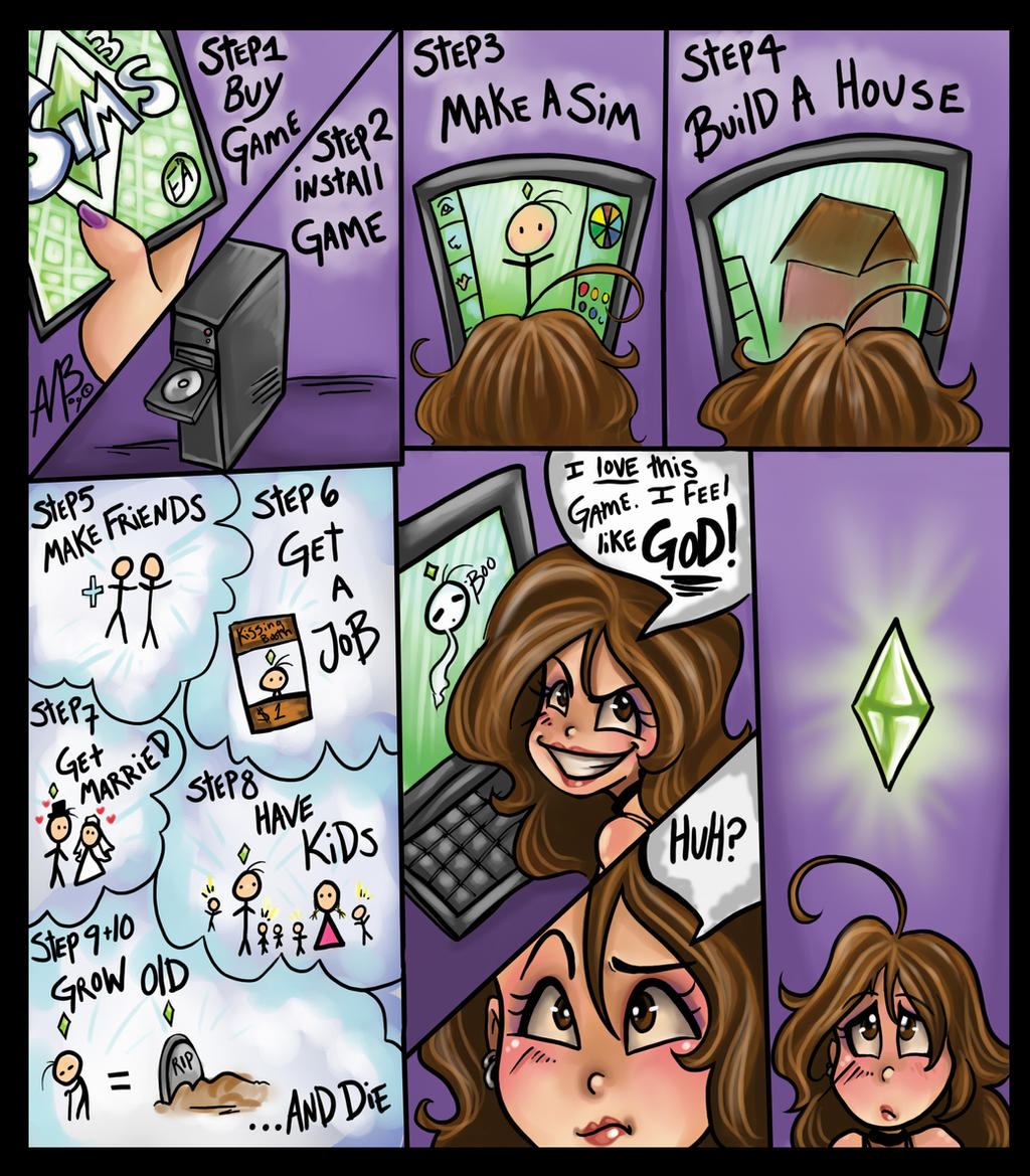 Sims addiction by Harpyqueen