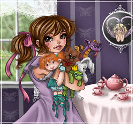 tea party dress up by Harpyqueen
