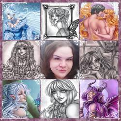 Art Vs Artist by Harpyqueen