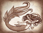 Crosshatch mermaid
