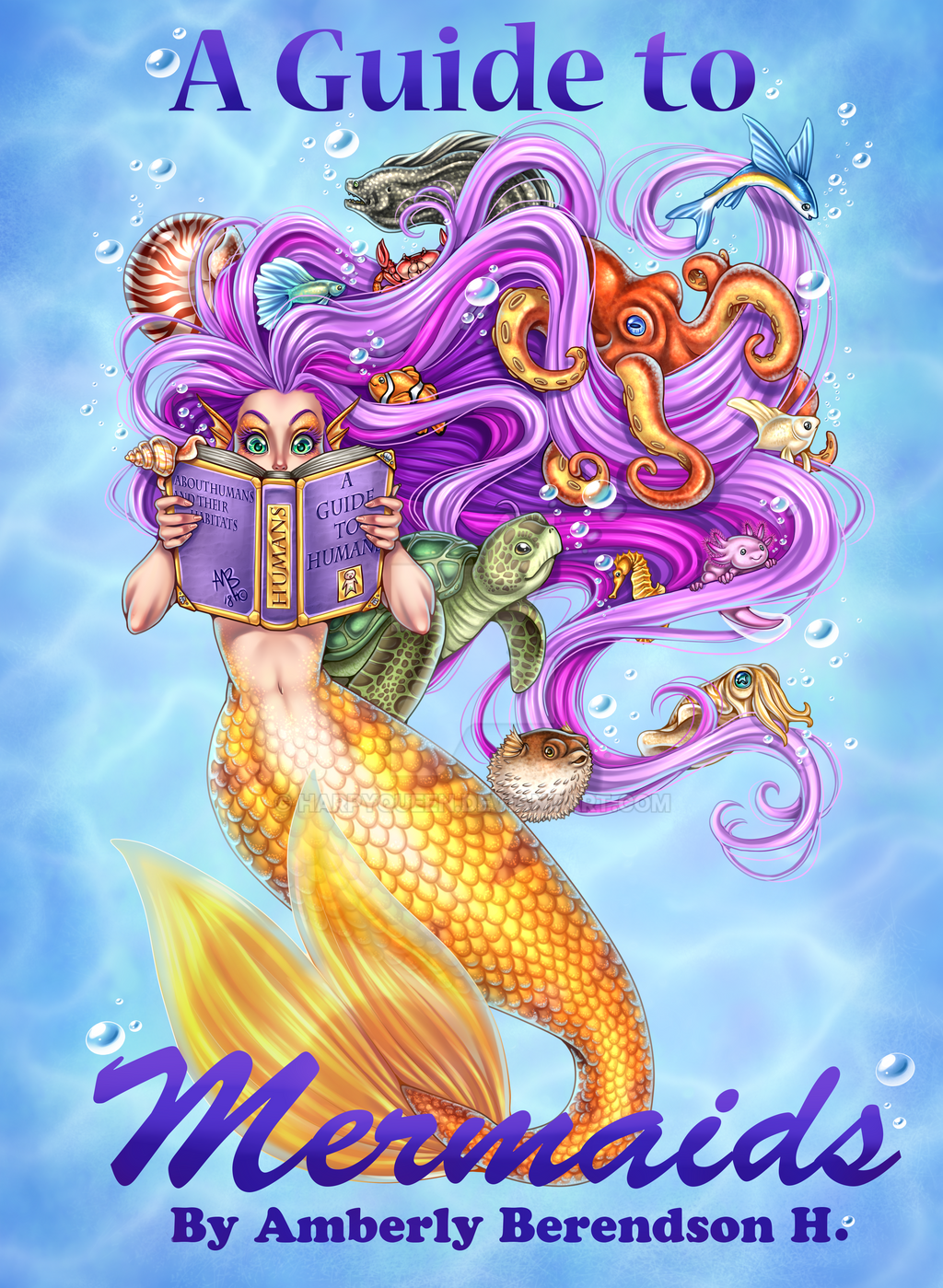 a guide to mermaids coloring book cover