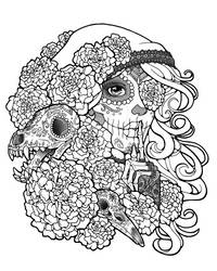 Skulls and Secrets Lineart