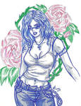 Blue and Roses