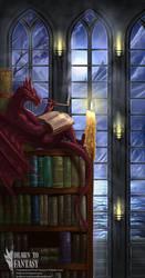 Wyrnn The Bookwyrm - Commission by RobertCrescenzio