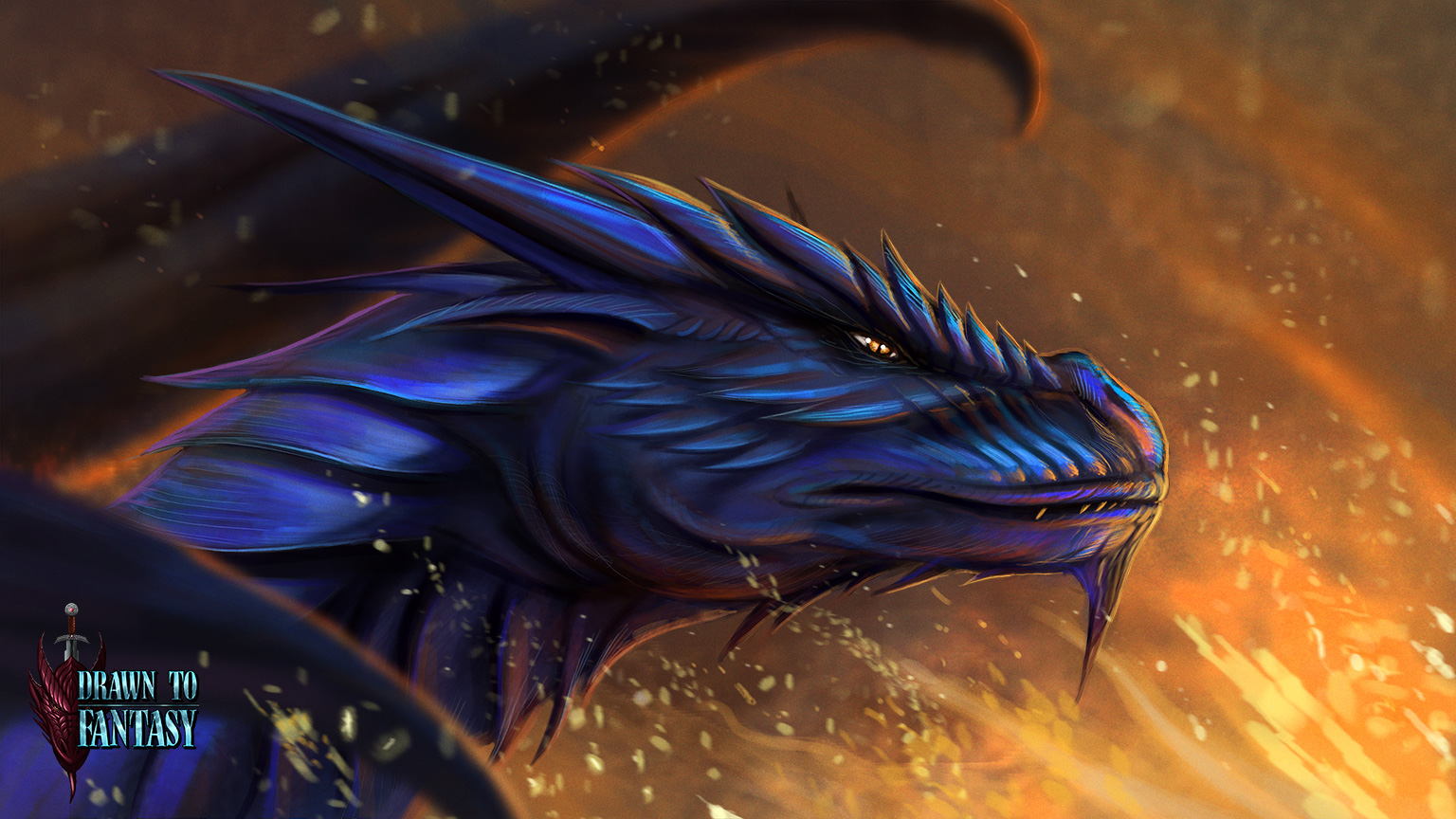 A dragons eternal fire speedpaint 1 5 hours by for Gimnasio 5 dragones