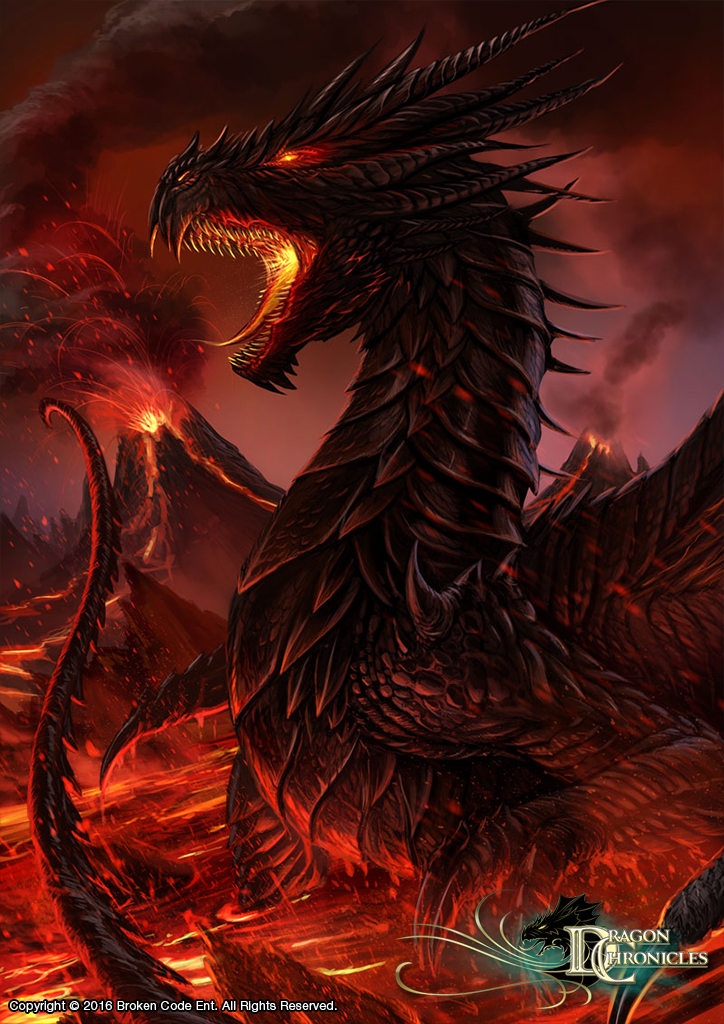 Evil Fire Dragon: Black Dragon By RobertCrescenzio On