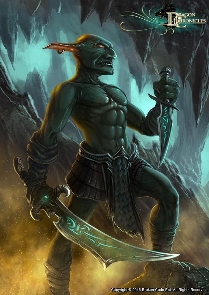 Dragon Chronicles - Cave Goblin by RobertCrescenzio
