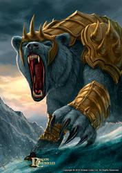Dragon Chronicles - Armored Bear by RobertCrescenzio