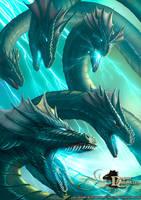 Dragon Chronicles - Lightning Hydra by RobertCrescenzio