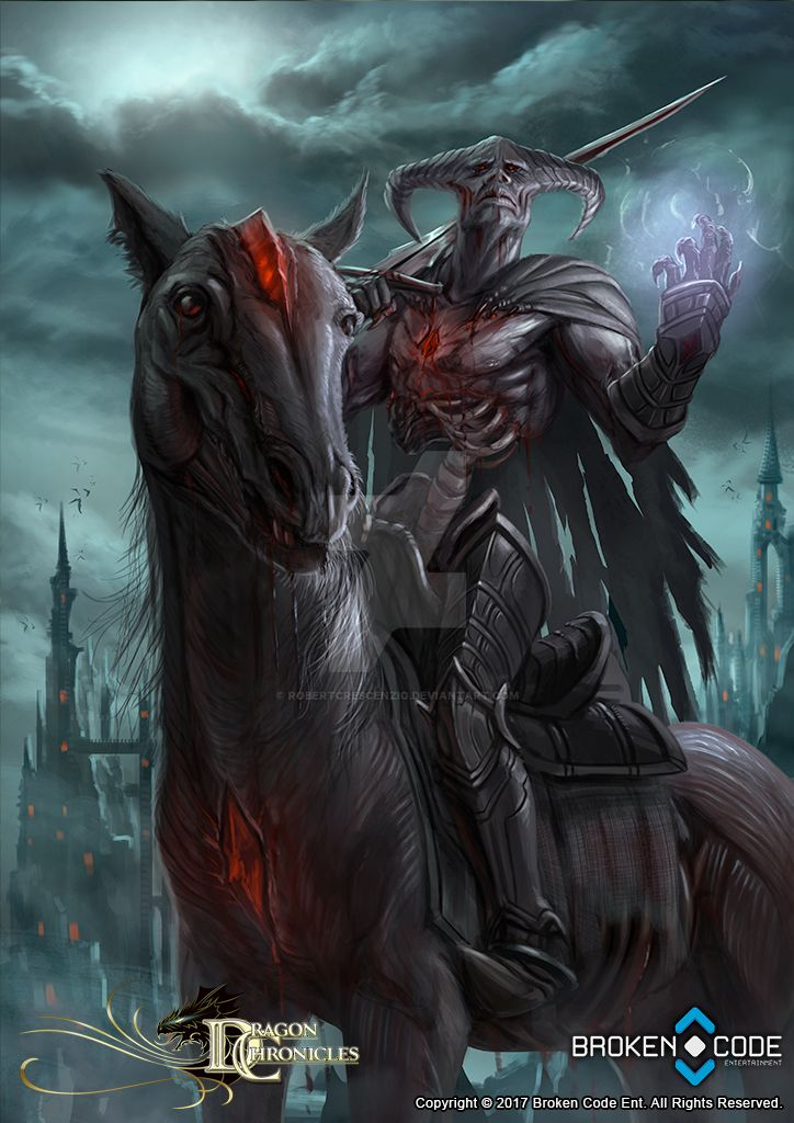 dragon chronicles spectral knight by robertcrescenzio on
