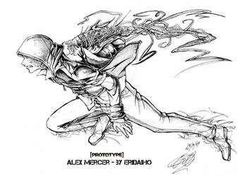 Alex mercer - Prototype - inks by EriDaiho