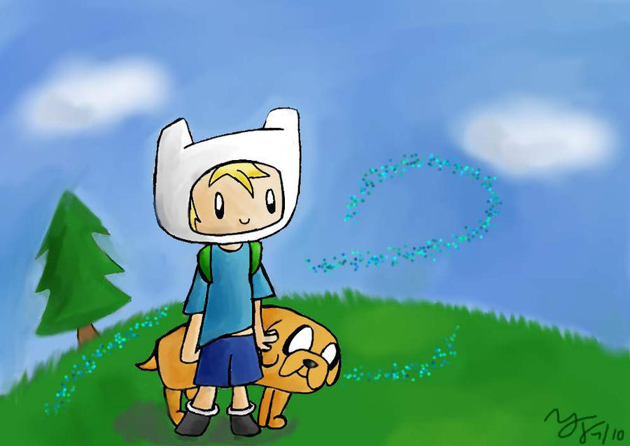 Jake the Dog + Finn the Human by tooncellos219