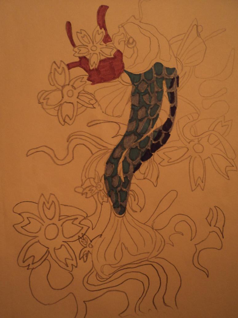 Koi Tattoo Design by
