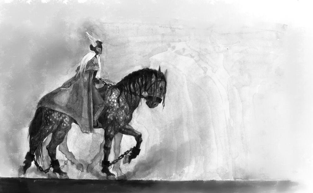 Odin on Sleipnir Picture, Odin on Sleipnir Image