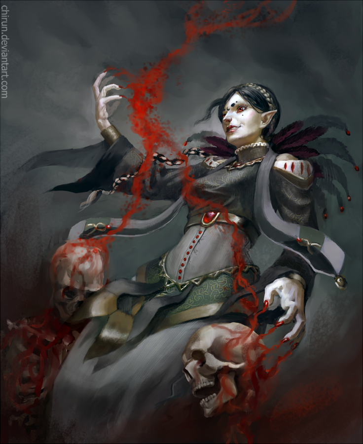 commission the blood mage by chirun on deviantart