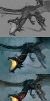 Dragon Rider - process by chirun