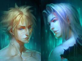 Sephiroth and Cloud - kintsugi