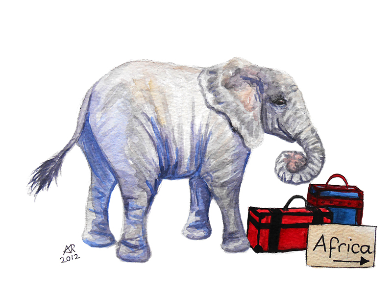 Nelly the Elephant by AmyRedd