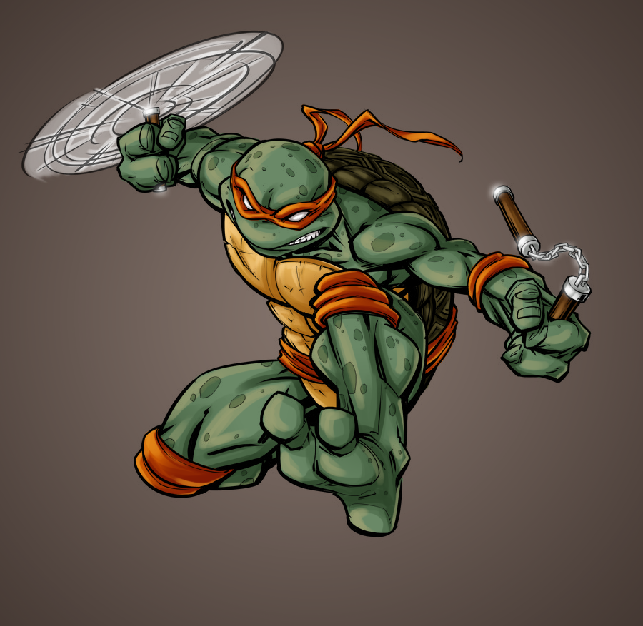 Tmnt Mikey By Patrickbrown - Color by Fayeuh