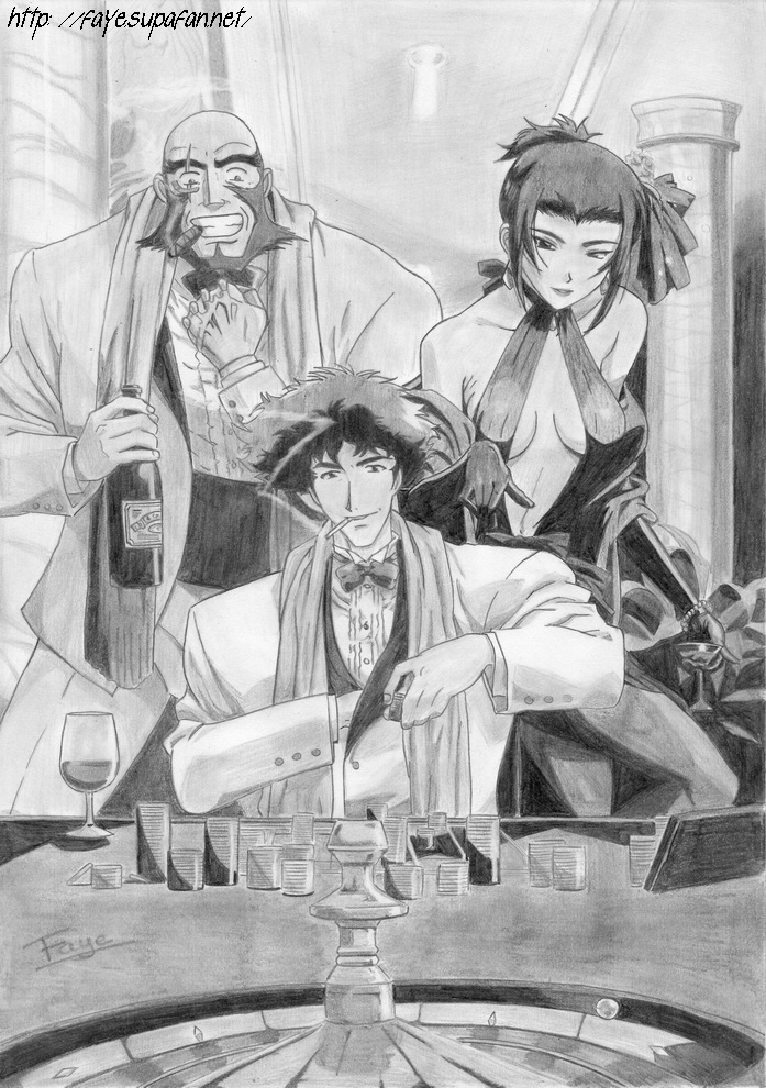 Jet, Spike et Faye by Fayeuh