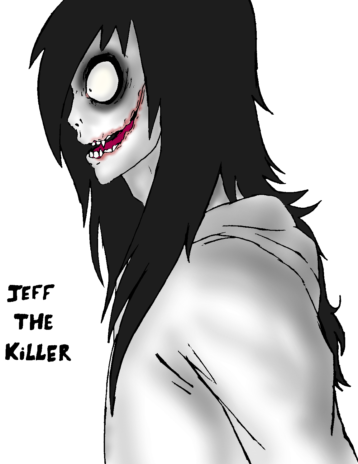 It is a graphic of Crush Jeff The Killer Anime Drawing