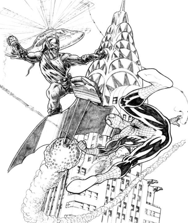 Hulk Bilder Zum Ausmalen: Spiderman Vs Goblin Pin-up By Bushiboy On DeviantArt
