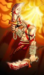 God Of War -  Kratos by Alainprem