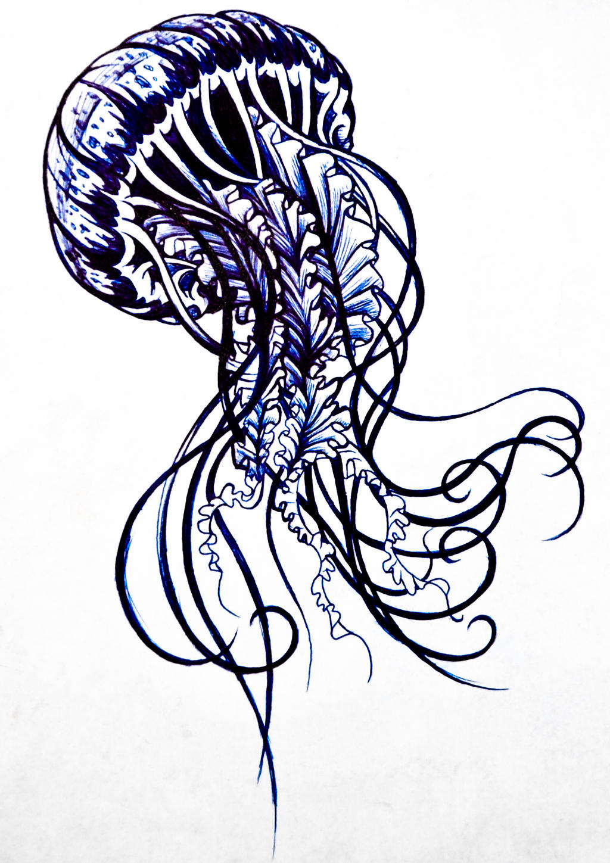 Jellyfish Tattoo Drawings