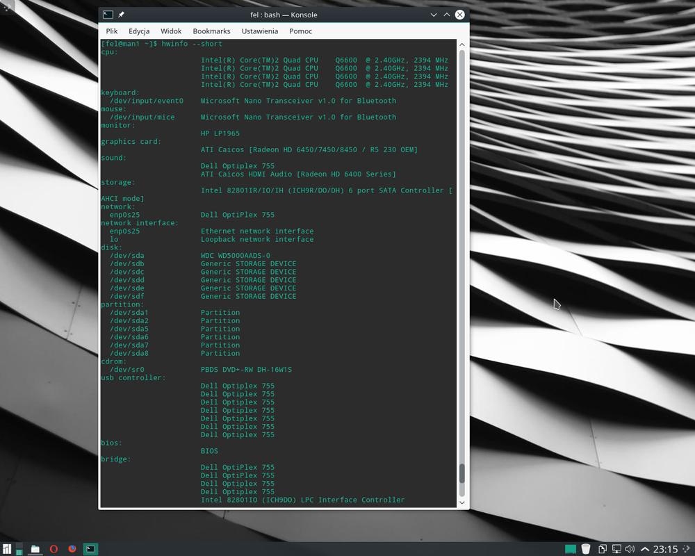 Manjaro Linux with KDE by tru3fel