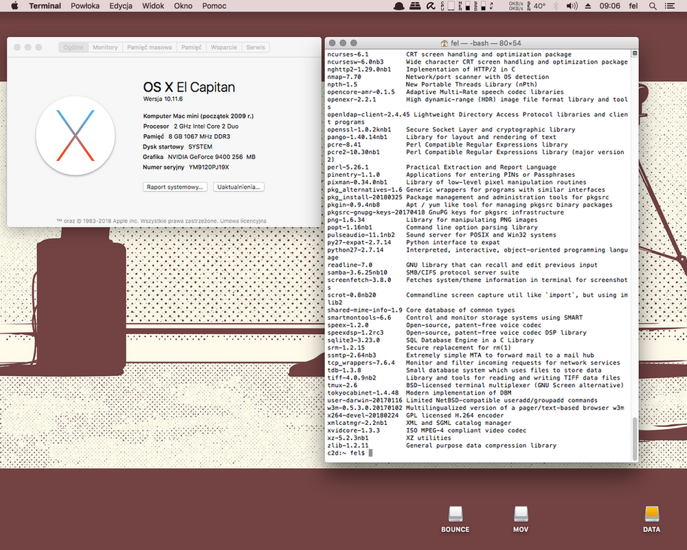 Mac mini Core 2 Duo/OS X El Capitan by tru3fel
