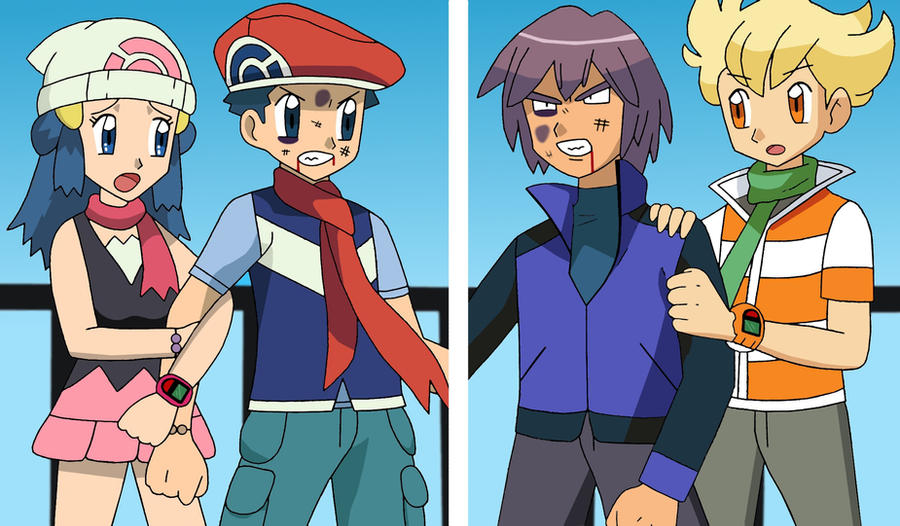 Louka and paul after fight by elothedreamgirl on deviantart - Louka pokemon ...