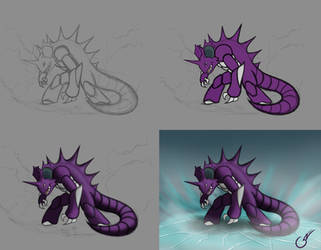 Nidoking step by step by gianenci